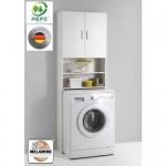 13Casa 913-001 Mobile per lavatrice, 64x26x190 h cm, Colore Bianco
