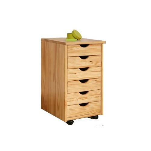 Links - Office 21 - Cassettiera. Dim: 36x40x65 h cm. Col: Naturale. Mat: Legno massello.