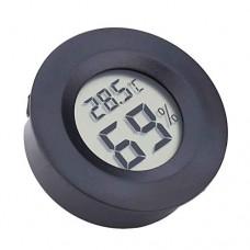Aiming Mini Display LCD rotonda Igrometro termometro digitale del congelatore di frigorifero esterna Temperatura interna del tester del tester