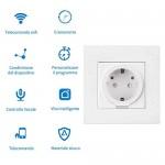 Presa Intelligente Wifi AISIRER Spina Intelligente Wifi Energy Monitor per Elettrodomestici Gestione Accesso Remoto tramite App Android e iOS Presa...