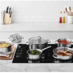 AmazonBasics - Batteria da cucina in acciaio inox, 12 pezzi
