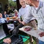AngLink Guanti da Barbecue, Guanti da Forno con Resistenza al Calore Fino a 800 °C 1 Paio Guanti da Cucina con Protezione Estesa Per Arrostire, Cuo...