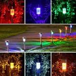 Luce Solare LED esterno, AUSHEN 10 pack IP65 impermeabile Colorato a risparmio energetico LED lampada solare, in acciaio inox, perfetto per Patio, ...