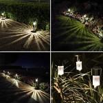 Bawoo Lampada Solare Giardino Esterno 12pcs LED Luci Solari Giardino Lampade da Esterno per Prato LED Lampade Solari Terra IP65 Impermeabile Farett...