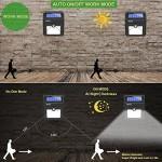 BAXiA Lampada Solare da Esterno, 28 LED Luce Solare con Sensore di Movimento Impermeabile Luci Solari per Giardino, Pareti, Terazzo, Cortile(4 Pezzi)