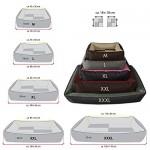 BedDog 2in1 Max Quattro Letto per Cane L Fino a XXXL, 8 Colori a Scelta, Cuscino, Divano, Cestino per Cane, Dimensione:XXL (ca. 120x85cm), Colore:M...