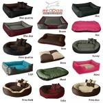 BedDog Lupi Letto per Cane/Gatto Cuccia S Fino a XXXL, 24 Colori a Scelta, Cuscino per Cane, Divano per Cane, Cestino per Cane, Nero/Grigio XL