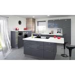 Berlenus CE8BG - Mobile Basso per Cucina sotto Il lavello, 80 cm, Colore: Grigio Lucido