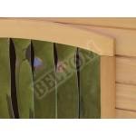 Beltom Cuccia S in Legno per Cane Cani di Taglia Piccola + Tendina Termica in PVC + Piedini Regolabili in Altezza - Nuova - CUCCE da Esterno - Small