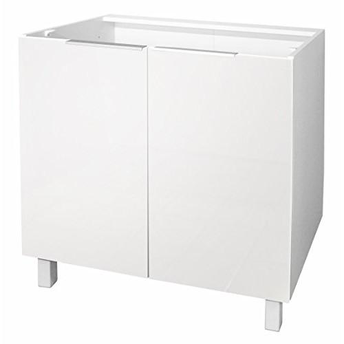 Berlenus CP8BB - Mobile Basso da Cucina con 2 Ante, 80 x 52 x 83 cm, Colore: Bianco Brillante