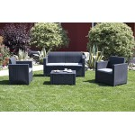 Bica 9067.4 Set Nebraska Salottino 4 Posti, Antracite, 281 x 155 x 79 cm