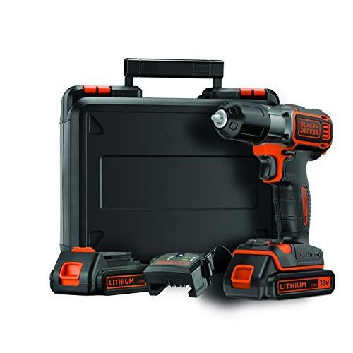 BLACK+DECKER ASD184KB-QW Trapano/avvitatore Autosense™ 18V - 1.5AH  con doppia batteria in valigetta