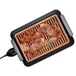 BlackPJenny Electrothermal Barbecue Plate Fast BBQ Smokeless Grill with Temperature Dial Heated Grilling Grate Made of Ti-cerama
