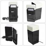 Bloomma Frigorifero USB, 5V Mini USB alimentato a batteria portatile dispositivo di raffreddamento del frigorifero dispositivo di raffreddamento el...