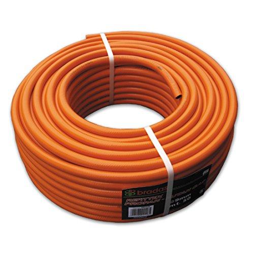 Bradas pb92525Gas Propano tubo 9X 2,5mm, Arancione, 20x 20x 10cm
