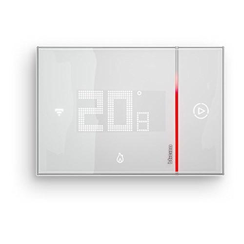 BTicino Smarther SX8000W Termostato Connesso con Wi-Fi Integrato, Fai da Te, da Muro, Bianco