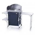 CAMPART TRAVEL Mobile cucina da esterni KI-0730 Ibiza – Con paravento – Varie soluzioni per riporre i tuoi oggetti