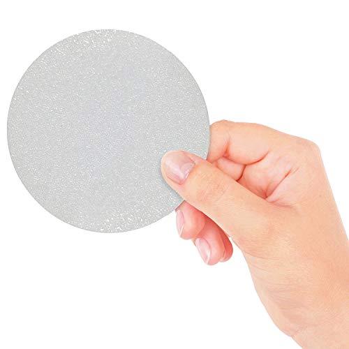 18 Grandi Adesivi Circolari Trasparenti Antiscivolo per Vasca e Doccia per una Maggiore Sicurezza e Presa sul Fondo della Vasca – Non Abrasivi