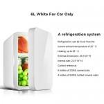 6 Litri Frigo Portatile 12V AC 220V DC Mini Frigo Per Auto E Casa Frigorifero Portatile per Viaggi e Campeggio Classe di efficienza energetica A+,C...