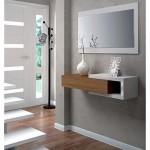 Esidra 13Casa - Toledo B4 - Mobile ingresso + specchio. Dim: 95x26x19 h cm. Col: Bianco. Mat: Melamina, Specchio.