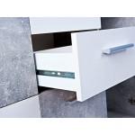 Esidra Appleton Buffet 5 Ante e 2 Cassetti, Legno, Grigio, 115x30x77 cm