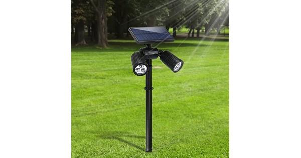 Lampade solari da giardino fkant 2 in 1 lampada solare da esterno