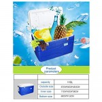 JCOCO Performance Wheeled Cooler Box | 105L Frigorifero Auto, Cibo Bevanda Picnic Beach Campeggio Isolato Ice Pack Cool Box-Outdoor Birra Party Raf...