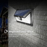 24 LED Luce Solare Esterna Illuminazione Esterna 270° Luce Solare del Giardino con Sensore di Movimento Solar Lights Garden Impermeabile Esterna Le...