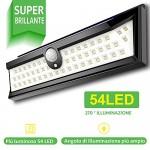 54 LED Luce Solare Esterna Illuminazione Esterna 270 ° Luce solare del Giardino con Sensore di Movimento Solar Lights Garden Impermeabile Esterna L...