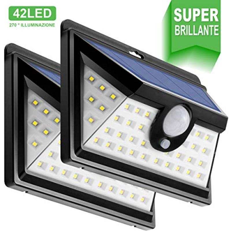 Sensore Di Movimento Per Luci Esterne.24 Led Luce Solare Esterna Illuminazione Esterna 270 Luce