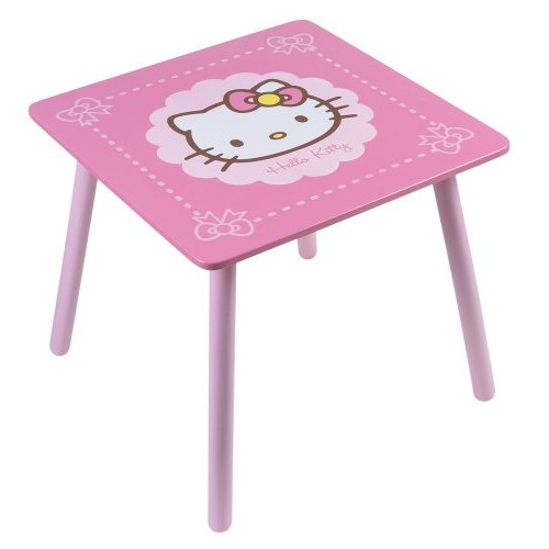 Cijep - 711 467 - Mobili e Arredamento - Tavolo quadrato Ciao Kitty dell'arco Legno - 46,5 x 50 x 50 cm
