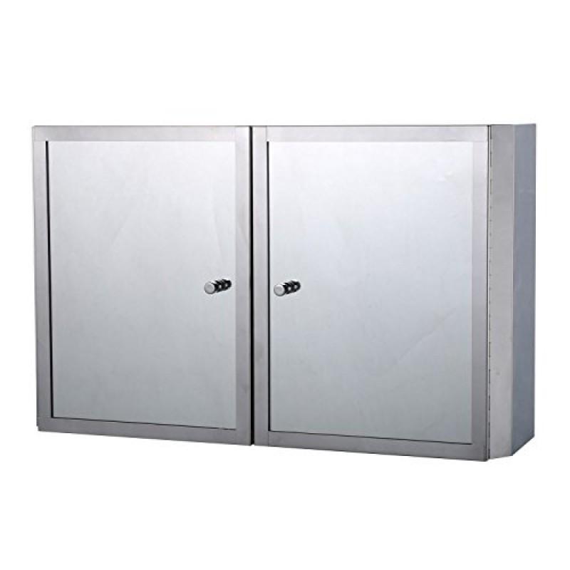 homcom da parete in acciaio INOX specchio bagno armadio ...