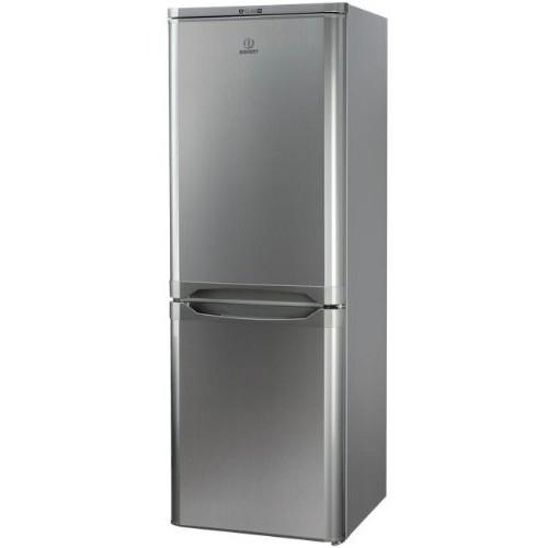 Indesit NCAA 55 NX Libera installazione 217L A+ Acciaio inossidabile frigorifero con congelatore