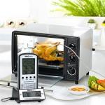 Telecomando Wireless Termometro, Termometro da Cucina Professionale, Digitale Termometro con Sonda, Termometro Barbecue, Termometro Forno, Termomet...