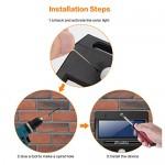 iPosible Luce Solare Luci Solari 20 LED Lampade Solare da Parete per Giardino- 4 Pezzi