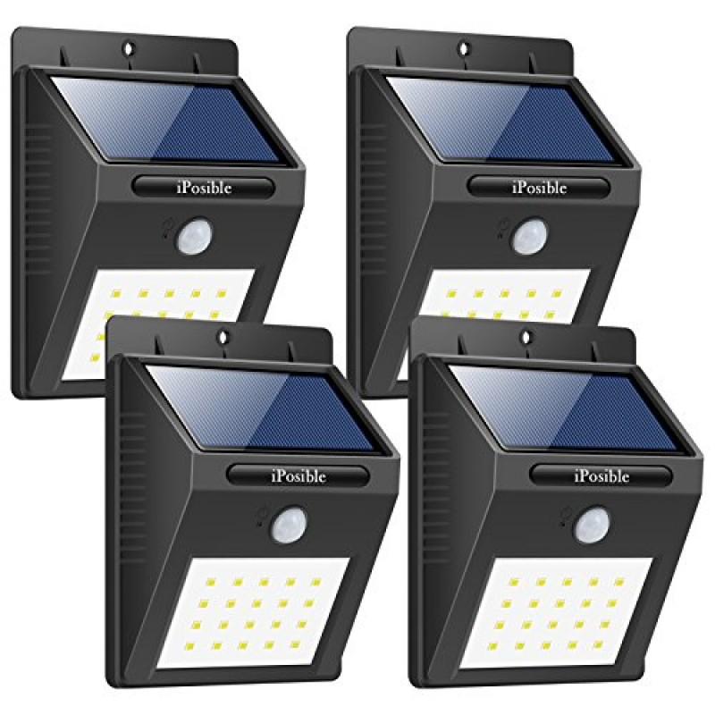 IMPERMEABILE 20 LED Energia Solare PIR Sensore di Movimento Luce Parete da Giardino Luci
