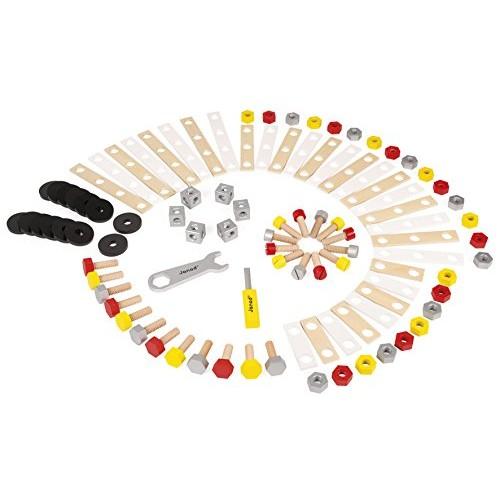 Janod - Redmaster Barile Bricolage di Legno per Bambini, 100 Pezzi, J06486