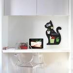 KalaMitica, Gatto Design, Lavagna Magnetica da parete Antracite, Acciaio Scrivibile con Gessetti. Dimensioni 56x38x0,12cm