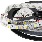 Kebinfen® 16.4ft(5m) SMD 5050 Luce Bianca Naturale Luci LED Striscia Flessibile 4000K Non-impermeabile 300LEDs/Roll Luce Striscia LED Luce a nastro...
