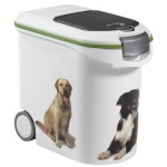 Keter Pets KO48 Contenitore per Alimenti da 12 kg con Due Ruote, 35 Litres, Plastica, Dogs, 28x50x43 cm