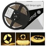LEDMO striscia led bianco caldo 3000K 5 metri 2835-600LEDs 8mm strisce led 12V IP65 impermeabili per illuminazione domestica, cucina, bar, decorazi...