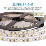 LEDMO Striscia LED bianco freddo 6000K SMD2835-600led IP20 Non-impermeabile strisce led 12V 5 metri di altezza CRI80 led strip (Alimentazione 12V n...