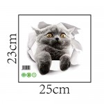 Lorsoul 3D Gattino Closestool Sticker Bambini Camera Parete deocration Gatto del Frigorifero del Fumetto Sticker XH2007