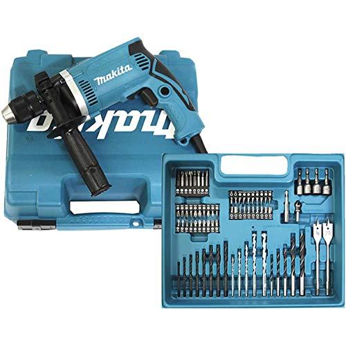 Makita HP1631KX3 - Taladro percutor 710w 13mm automático promo acc.