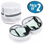 mDesign Set da 2 Sacchetti per lavatrice rotondi – Rete per lavatrice ideale per reggiseni e biancheria intima – Accessori lavatrice ideali per pro...