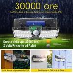 Mpow Luce Solare LED Sensore di Movimento, Lampada Solare LED, IP67 Impermeabile, Luce Solare Giardino, Lampada Solare Esterni, Super SunPower Pann...