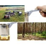 Outdoor Saxx, Pinza con manico, da esterni, per tazze, pentole e bracieri caldi, protegge da calore e bruciature