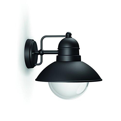 Philips Hoverfly Lampada da Parete da Esterno, E27, 60 watts, Nero, 22.2 x 22.4 x 24.8 cm