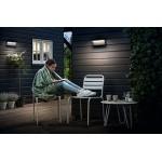 Philips Bustan Lampada da Parete da Esterno, LED, senza Sensore di Movimento, 2700 K, Grigio Scuro