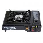 Saturnia 08140125 – Cucina a gas portatile, colore: nero